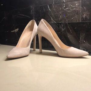 db2de6428ea7 Nine West Shoes - Tatiana Pointy Toe Pump natural suede
